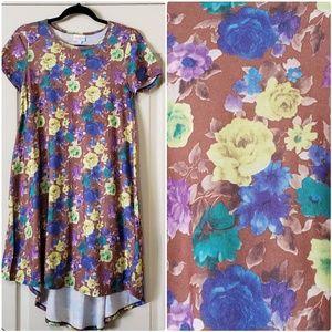 Carly lularoe dress roses  floral XXS
